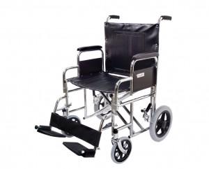"Endurance HD 22"" Heavy Duty Transport Chair H1922 Chrome"